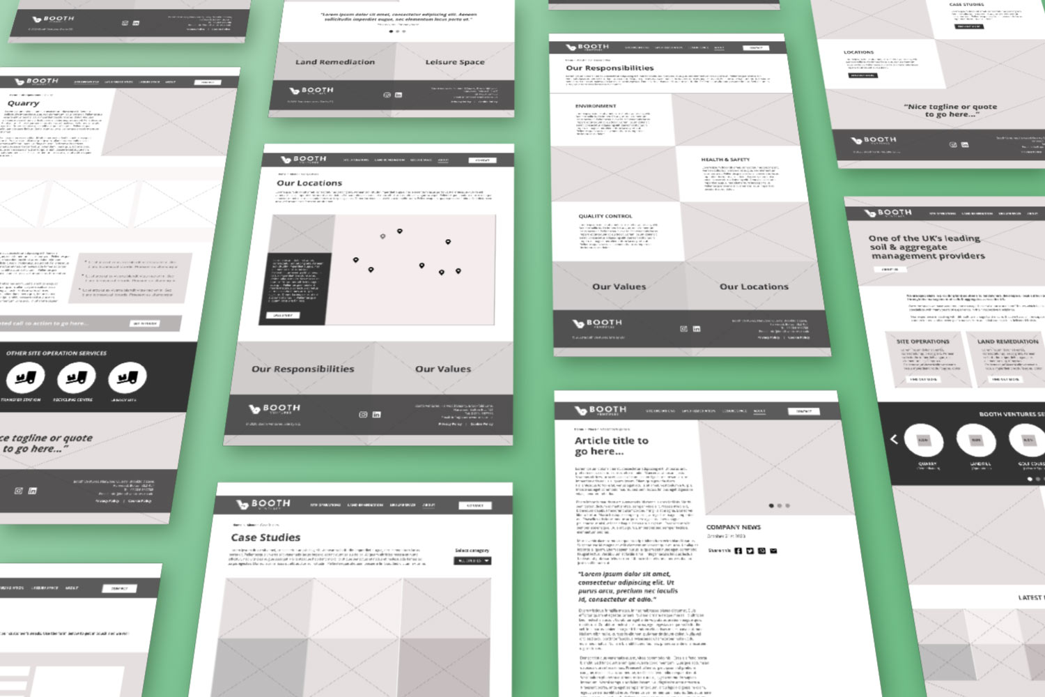 Booth Wireframes