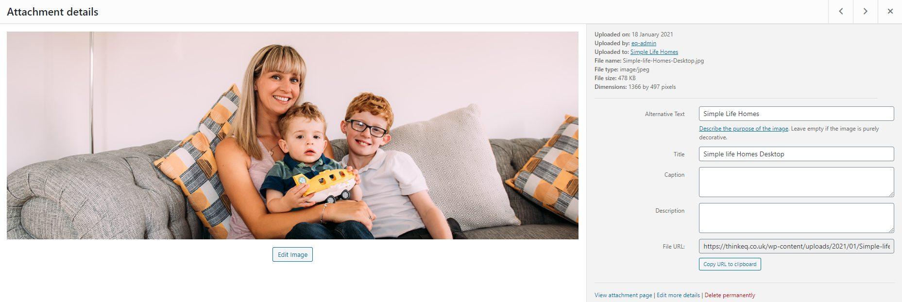 WordPress Media Library Image Editing